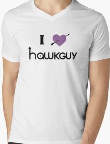 I heart Hawkguy (purple variant) Mens V-Neck T-Shirt