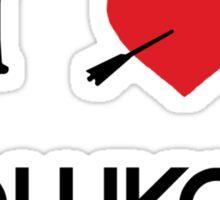 I heart Hawkguy Sticker