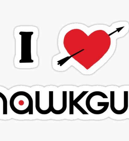 I heart Hawkguy Sticker