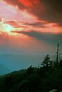 BLUE RIDGE SUNSET by Chuck Wickham
