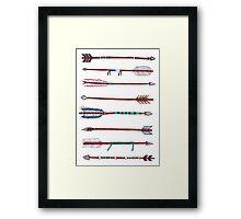 Eight Native Arrows Framed Print