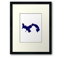 Panama map Framed Print