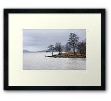 Trees of Loch Rannoch  Framed Print