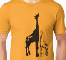 Giraffe and Aspiring Baby Unisex T-Shirt