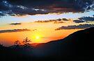 MOUNTAIN SUNSET by Chuck Wickham