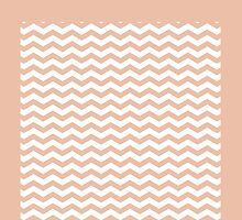 Chevron Pattern In Salmon Color by Vickie Emms