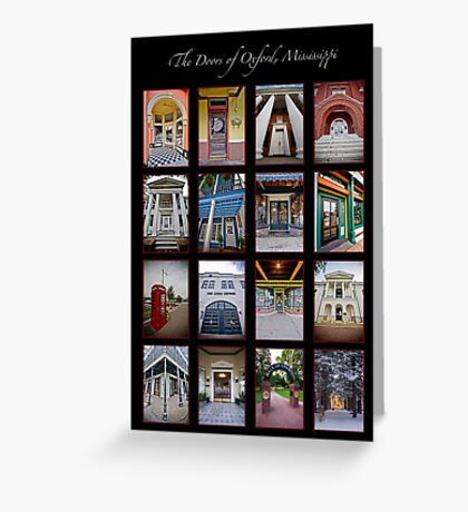 The Doors of Oxford, Mississippi Greeting Card