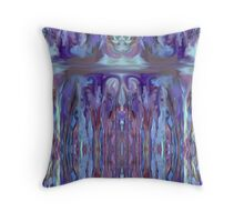 Abstract Purple Design Throw Pillow