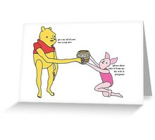bee syrup Greeting Card