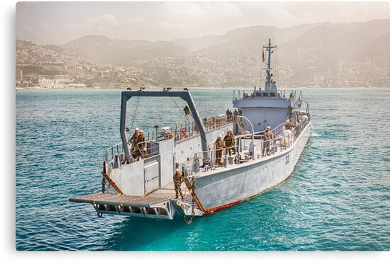 Lebanese Amphibious Transport Ship by Joshua McDonough Photography