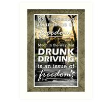 An Issue of Freedom Art Print