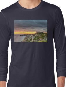 WWII Bunker at Sunset, France Long Sleeve T-Shirt