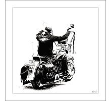 Biker at the Windjammer Photographic Print