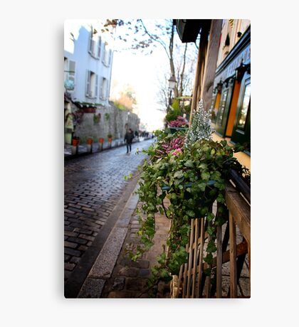 Parisien streetscape Canvas Print