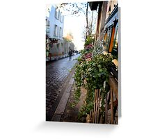Parisien streetscape Greeting Card