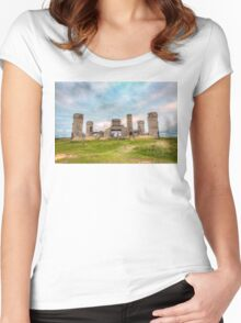 Old Stone Castle, France Women's Fitted Scoop T-Shirt