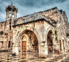 Ancient Church in Byblos Lebanon by Joshua McDonough Photography
