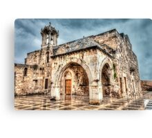 Ancient Church in Byblos Lebanon Canvas Print