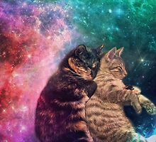 Tortilla and Feivel - Snuggles in Space by trabbles