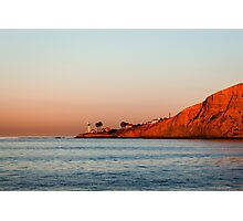 Lighthouse at Sunset, San Diego California Photographic Print