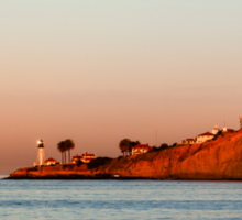 Lighthouse at Sunset, San Diego California Sticker