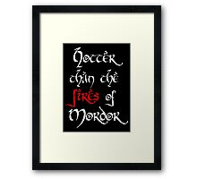 Hotter than Modor v2 Framed Print