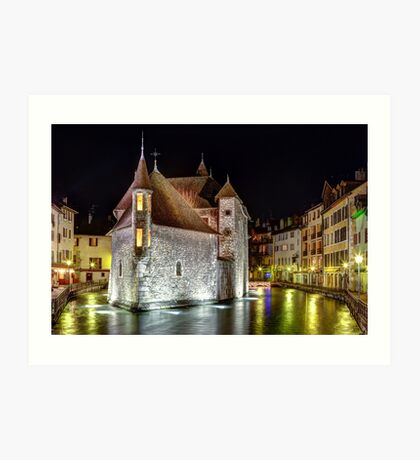 Palais de l'Isle in Annecy, France Art Print