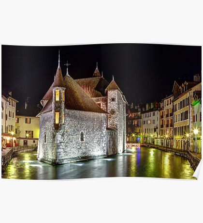 Palais de l'Isle in Annecy, France Poster