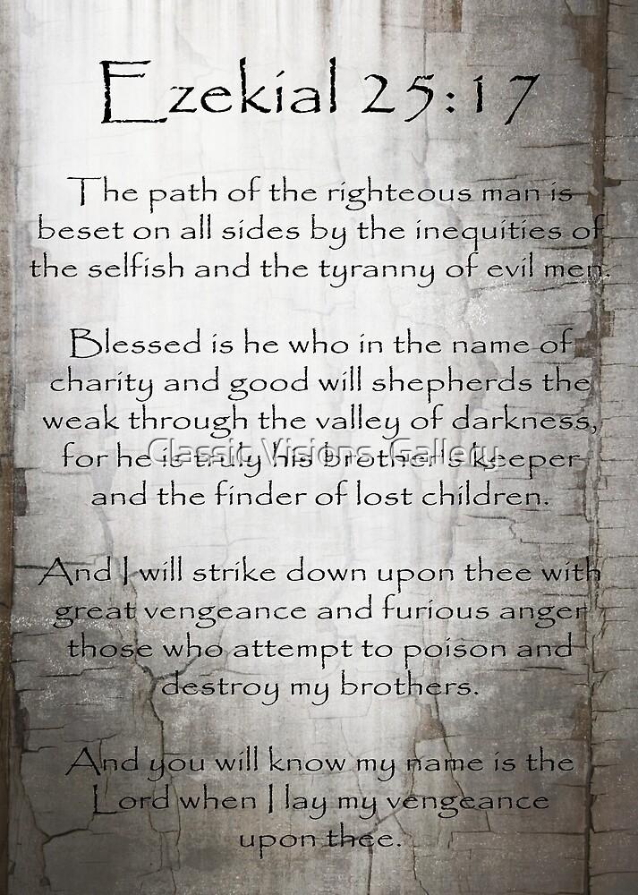 Ezekial 25:17 by Roz Abellera Art Gallery