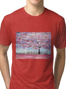 Cherry Blossom tree in Japan Tri-blend T-Shirt