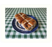 A Foretaste of Easter - Spicy Hot Cross Buns Art Print