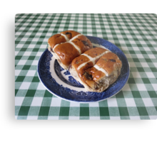 A Foretaste of Easter - Spicy Hot Cross Buns Metal Print