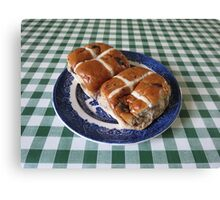 A Foretaste of Easter - Spicy Hot Cross Buns Canvas Print