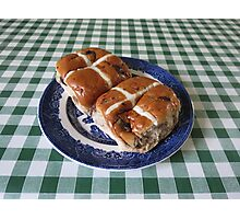 A Foretaste of Easter - Spicy Hot Cross Buns Photographic Print