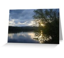 Sunset Over the Susquehana River Greeting Card