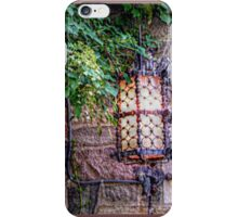 Wrought Iron Lamp at the Manor Front Doorway iPhone Case/Skin