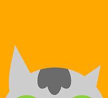 Peeking cat by amberisamber