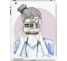 Pastel Polaroid Girl iPad Case/Skin