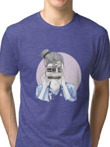 Pastel Polaroid Girl Tri-blend T-Shirt