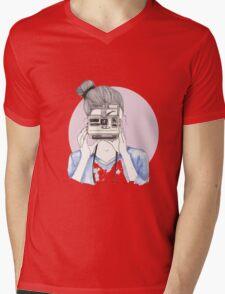 Pastel Polaroid Girl Mens V-Neck T-Shirt