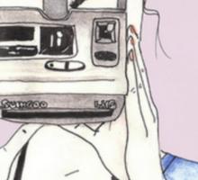 Pastel Polaroid Girl Sticker