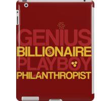 Genius, Billionaire, Playboy, Philanthropist iPad Case/Skin