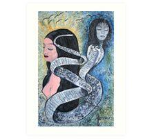 female kundalini energy rising Art Print