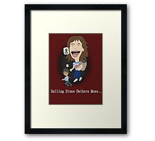 Rolling Stone gathers Moss Framed Print