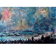 THE FIREWORKS - ENGLISH BAY VANCOUVER(C1999) Photographic Print