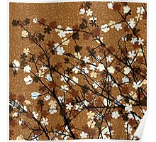 Floral brown Poster
