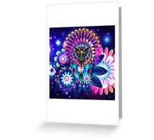 Owl Dream Catcher Full Color Greeting Card