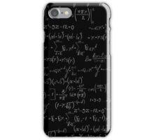 Chalk board mathematics pattern iPhone Case/Skin