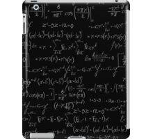 Chalk board mathematics pattern iPad Case/Skin