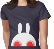 White bunny no background Womens Fitted T-Shirt